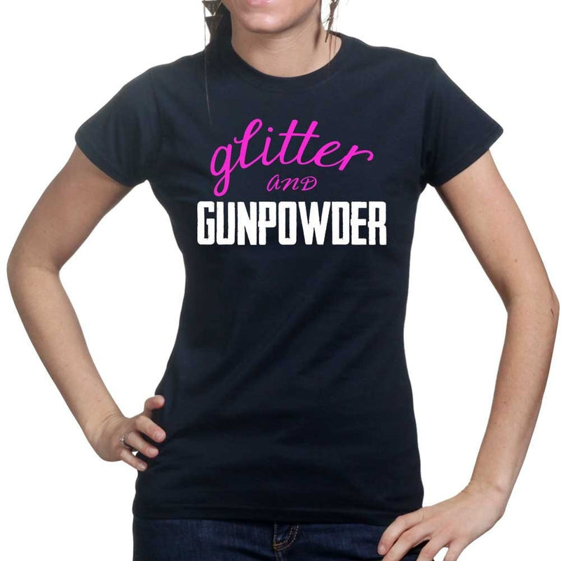 Ladies Glitter and Gunpowder T-shirt