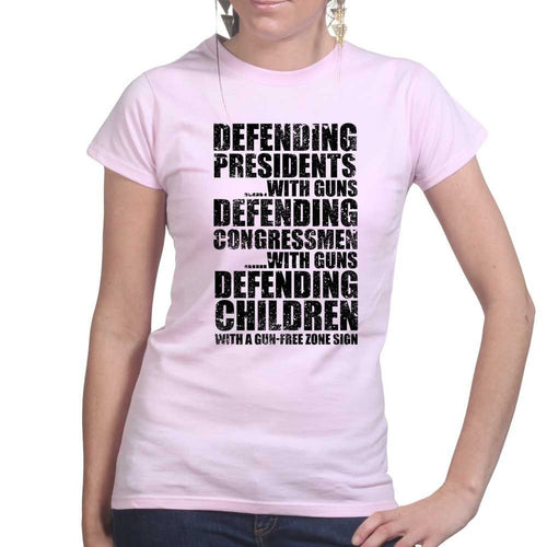 Armed Defence Irony Ladies T-shirt