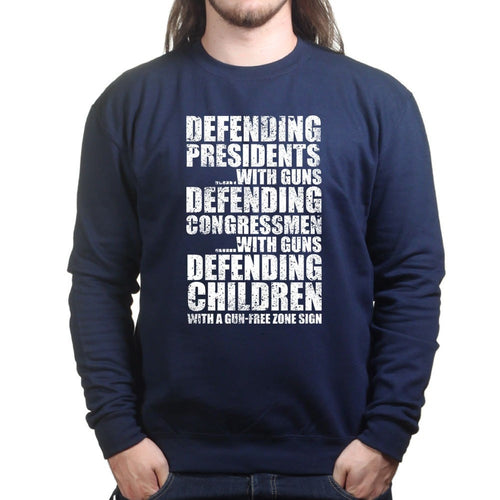 Armed Defence Irony Sweatshirt