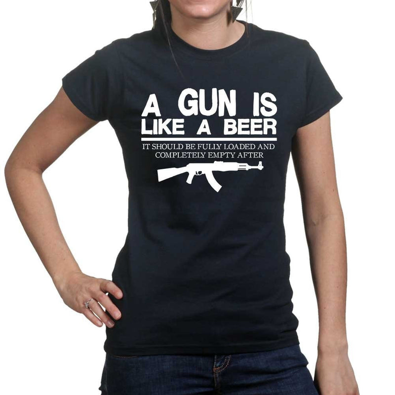 Ladies Guns & Beer T-shirt