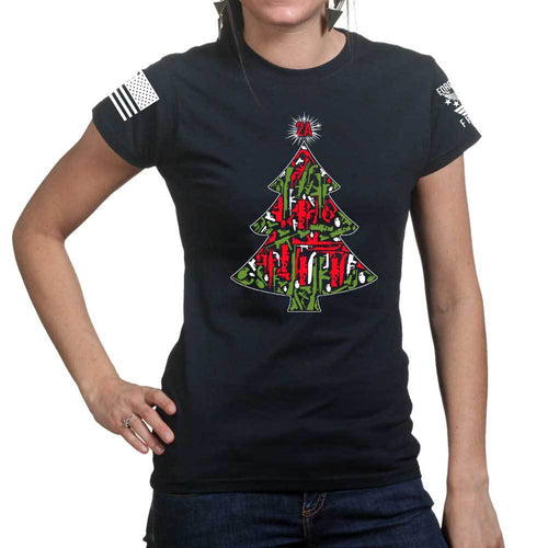 2A Christmas Tree Ladies T-shirt