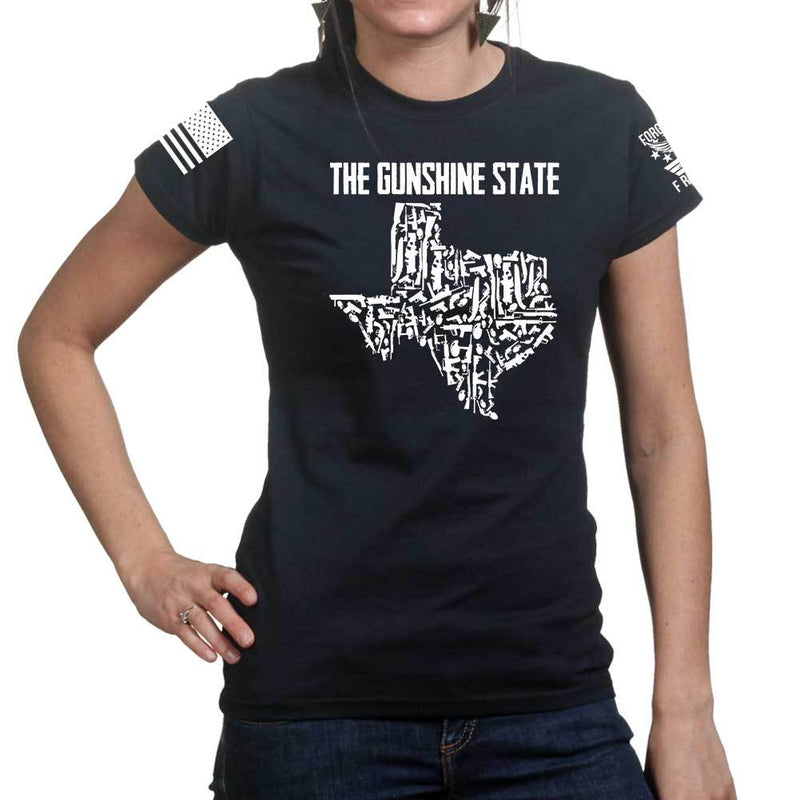 Texas The Gunshine State Ladies T-shirt