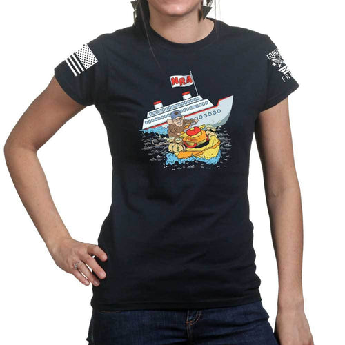 Sinking Ship Ladies T-shirt