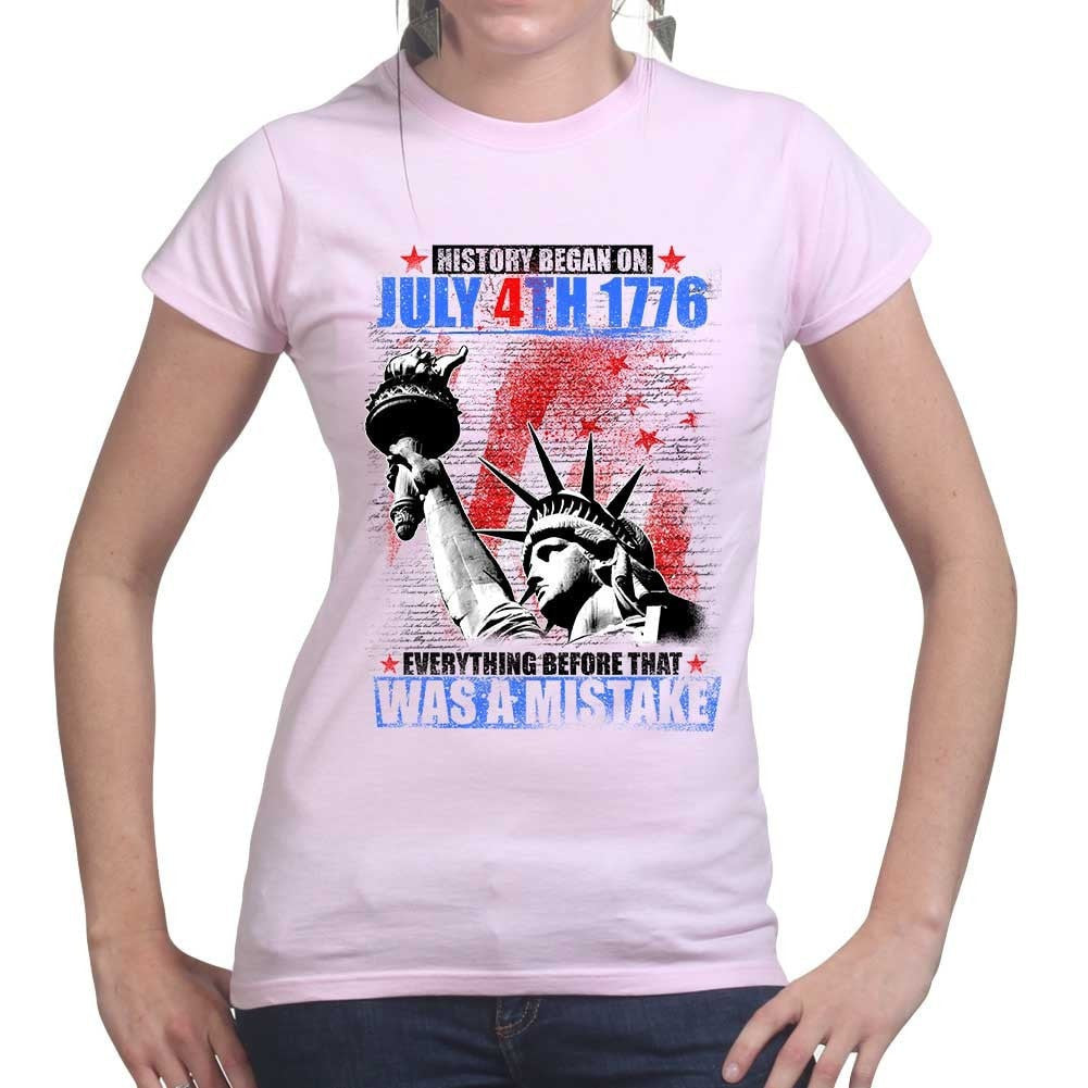 dd4c268fb399 Ladies History Began 4th of July T-shirt – Forged From Freedom