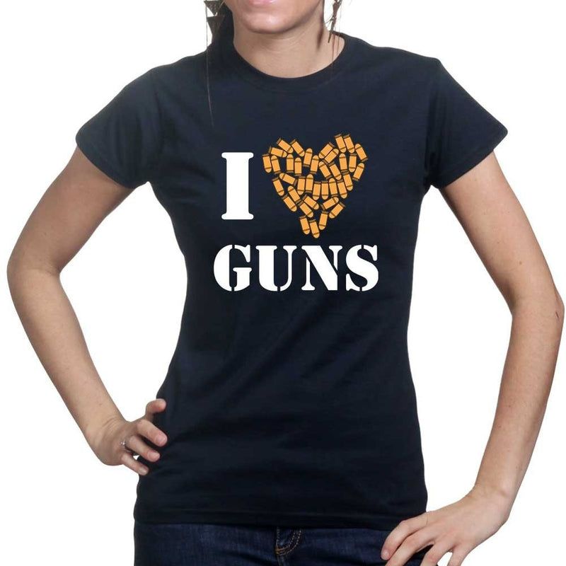 I Love Guns Ladies T-shirt