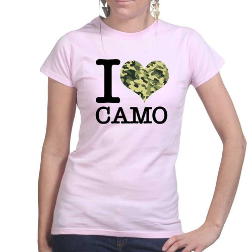 I Love Camo Ladies T-shirt