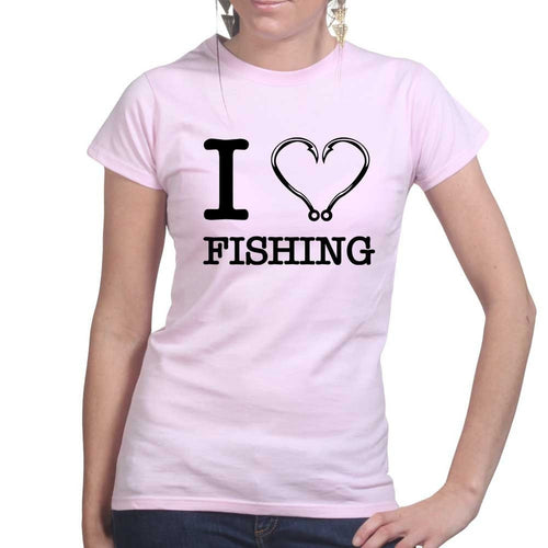 I Love Fishing Ladies T-shirt