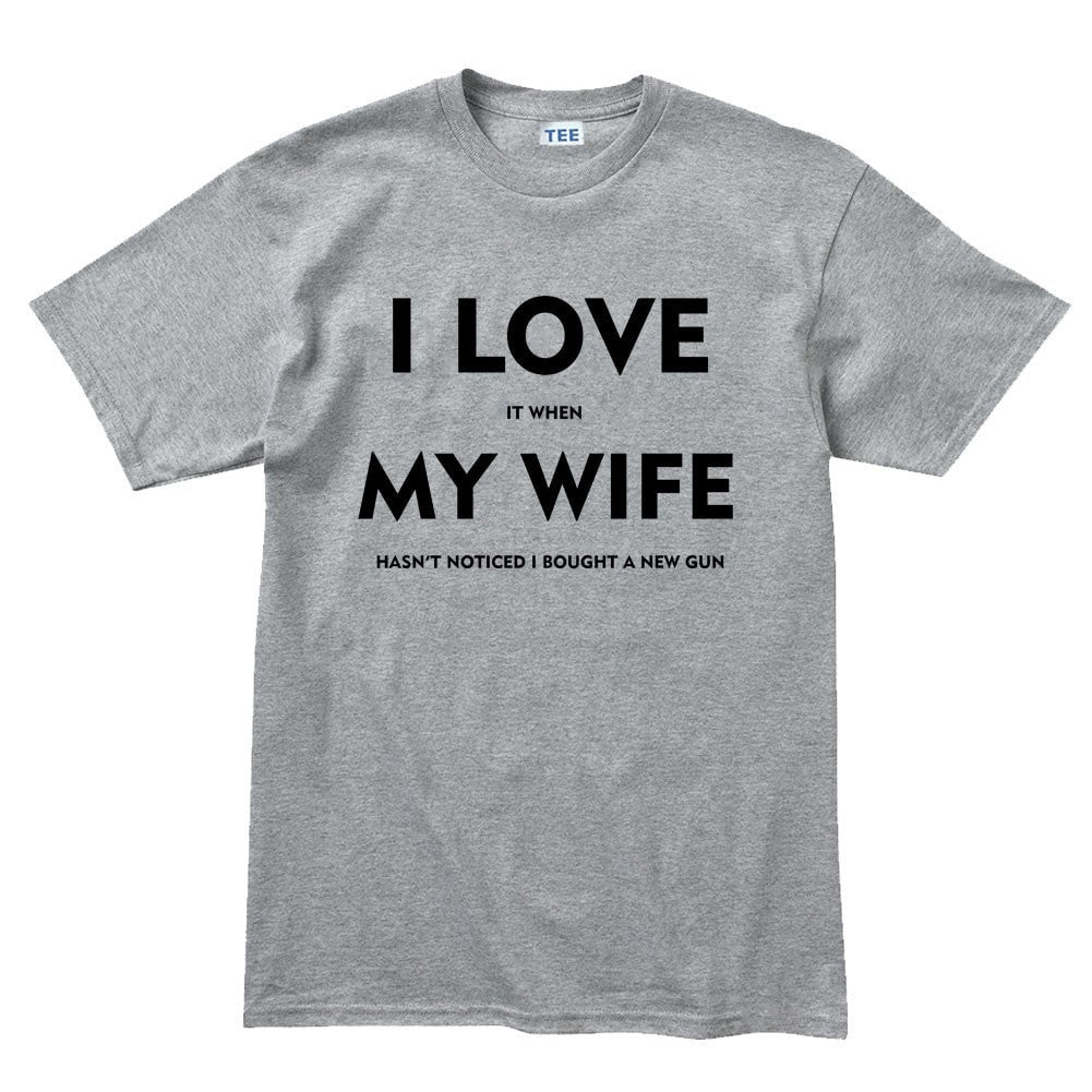 I Love My Wife Mens T Shirt Forged From Freedom