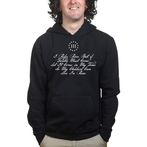 I Prefer Peace Thomas Paine Mens Hoodies