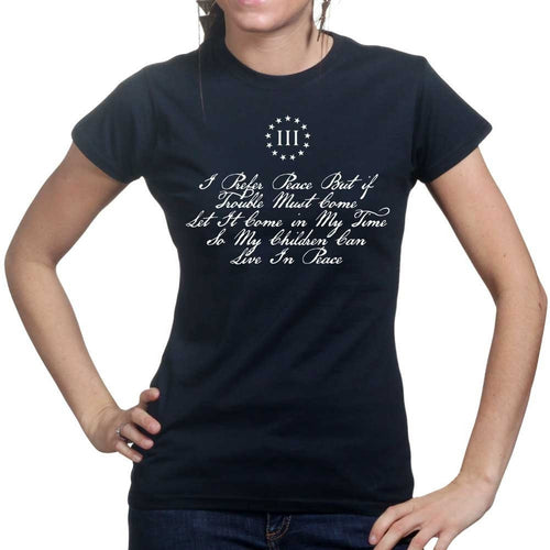 I Prefer Peace Thomas Paine Ladies T-shirt