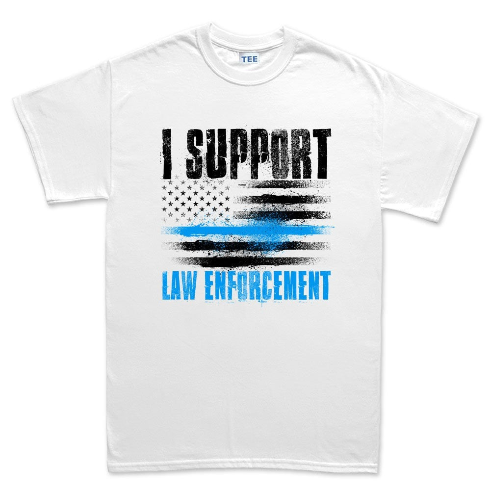Men 39 S Support Law Enforcement T Shirt Forged From Freedom