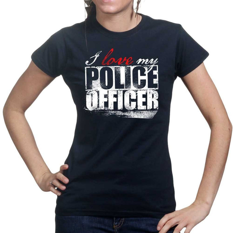 Ladies I Love My Police Officer T-shirt
