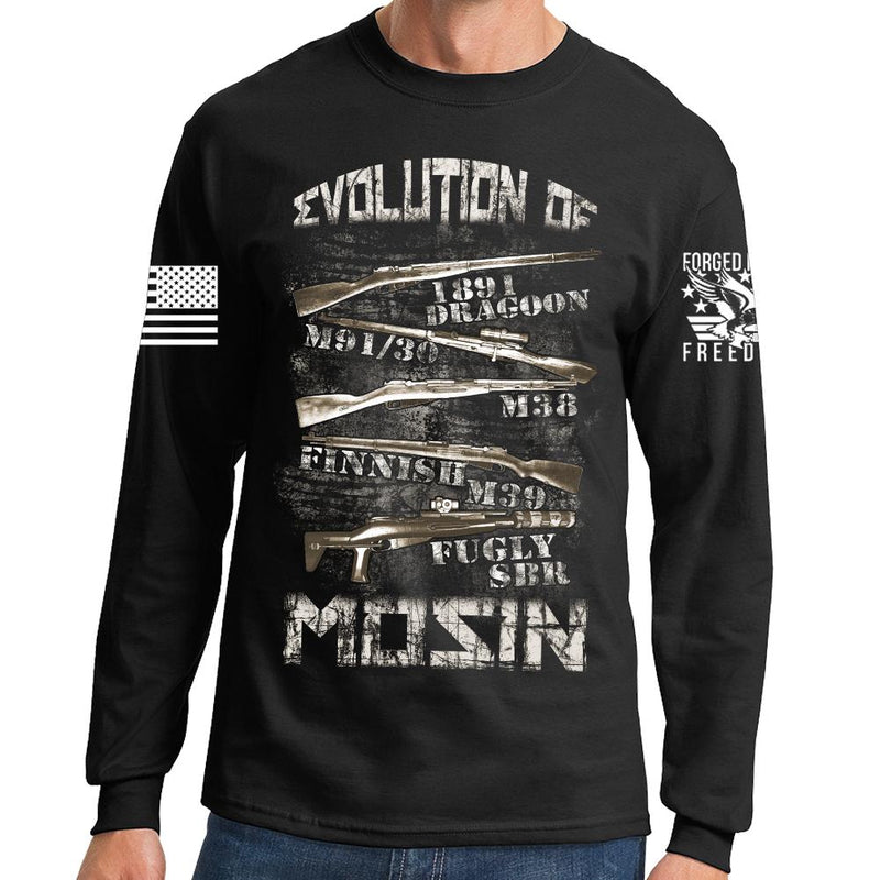 Evolution of Mosin Long Sleeve T-shirt