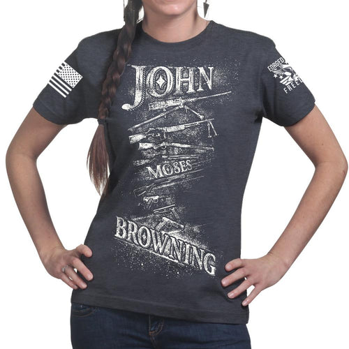 John Moses Browning Ladies T-shirt