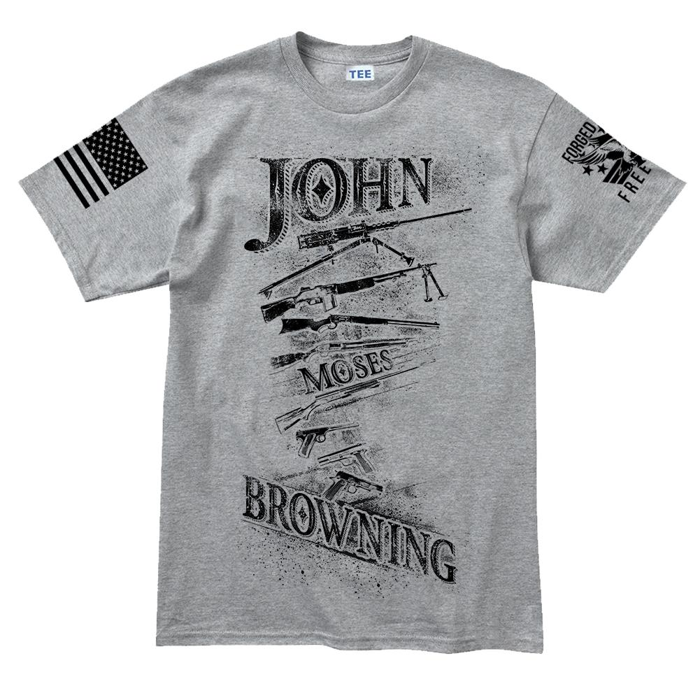 b014c80a John Moses Browning Men's T-shirt – Forged From Freedom