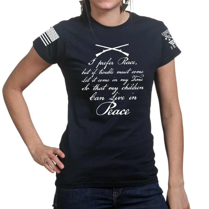 I Prefer Peace Ladies T-shirt