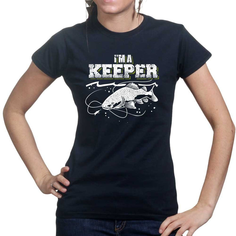 I'm A Keeper Fishing Ladies T-shirt