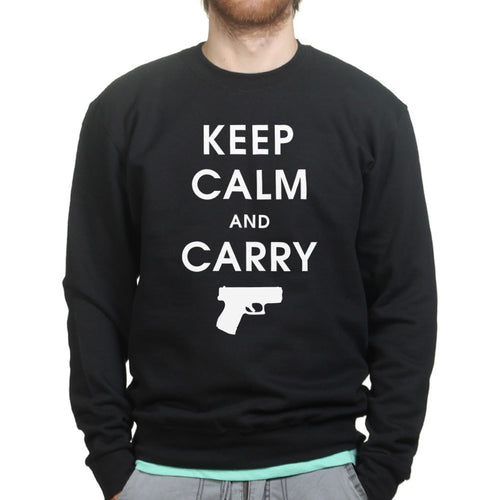 Keep Calm and Carry Mens Sweatshirt