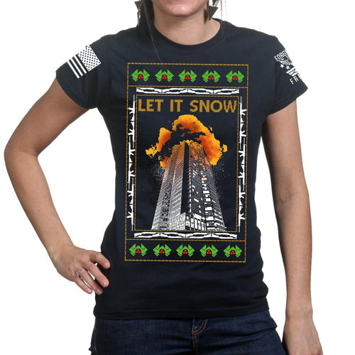 Nakatomi Towers Christmas Ladies T-shirt