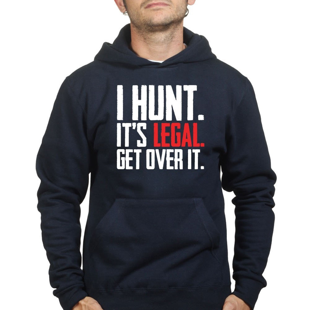 8c9316aaeb9f I Hunt. Get Over it. Hoodie – Forged From Freedom