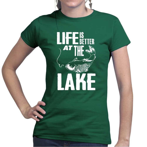 Life At The Lake Ladies T-shirt