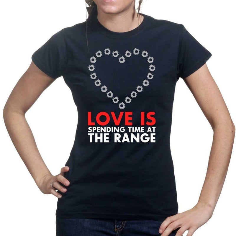 Love Is At The Range Ladies T-shirt