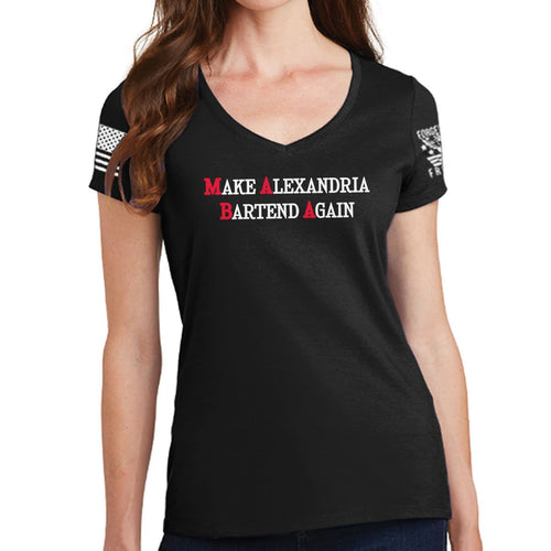 Ladies MABA V-Neck T-shirt