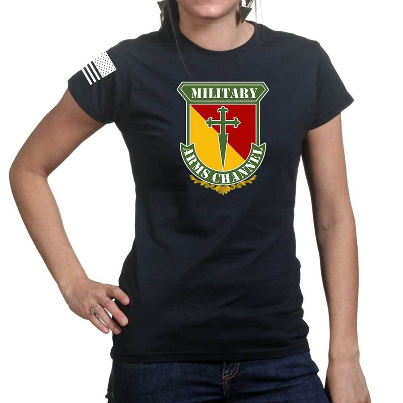 Military Arms Channel Logo Ladies T-shirt