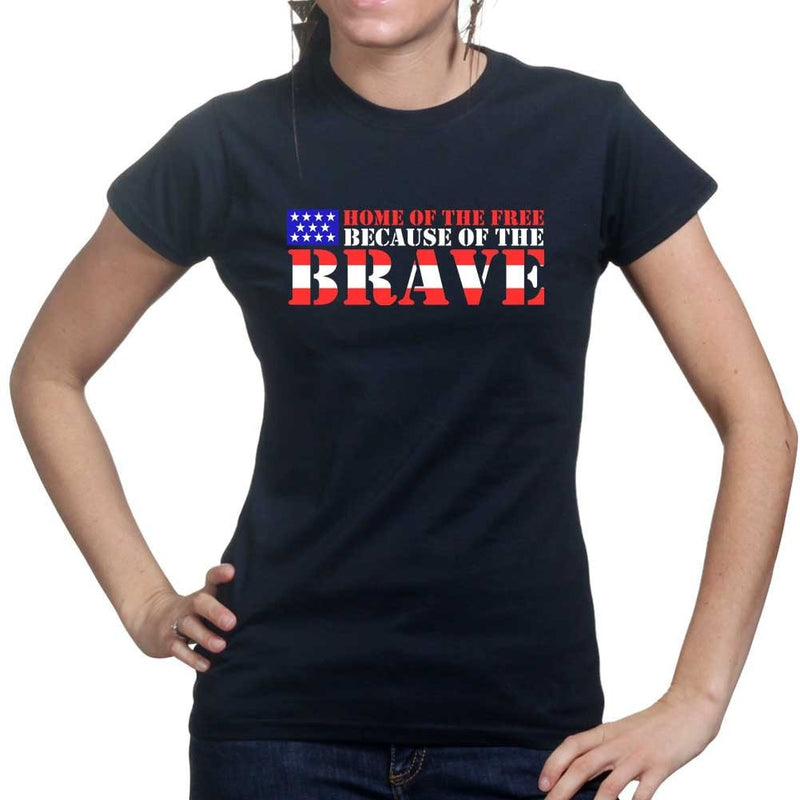Home Of The Free Ladies T-shirt