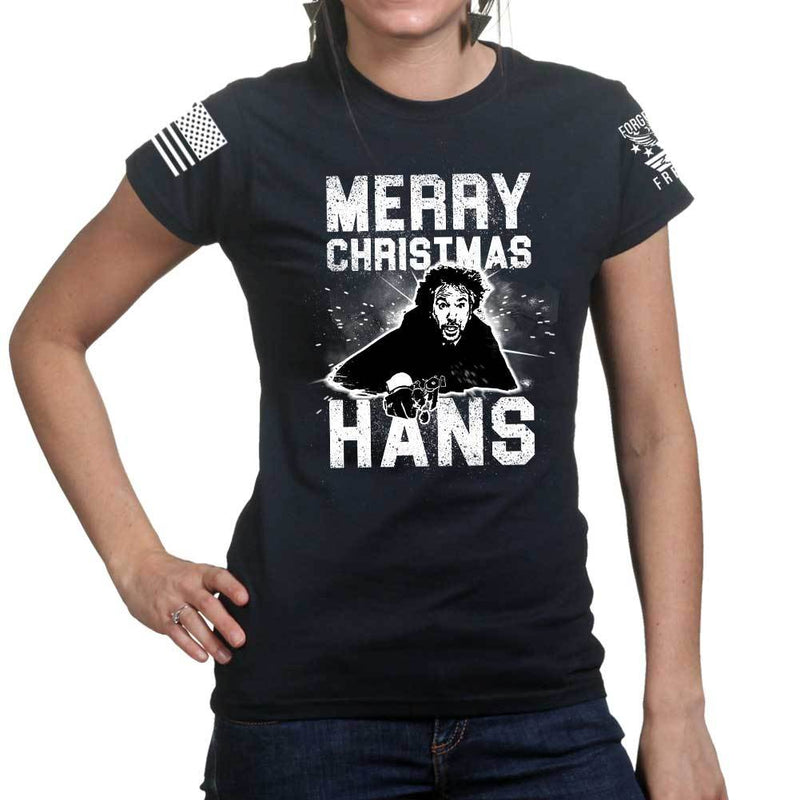 Merry Christmas Hans Ladies T-shirt