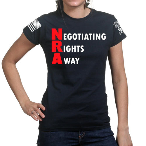 Negotiating Rights Away Ladies T-shirt
