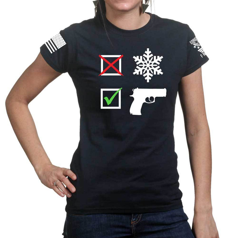 No Snowflakes Ladies T-shirt