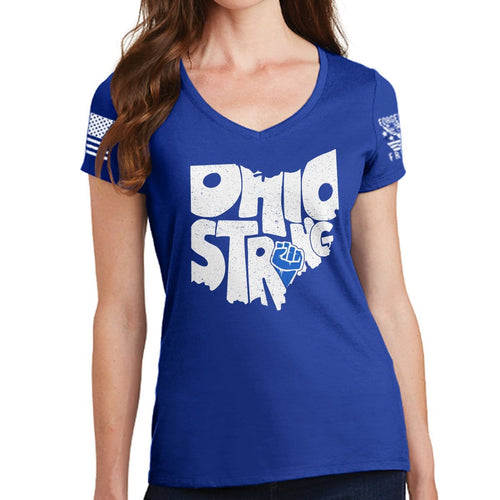 Ladies Ohio Strong V-Neck T-shirt