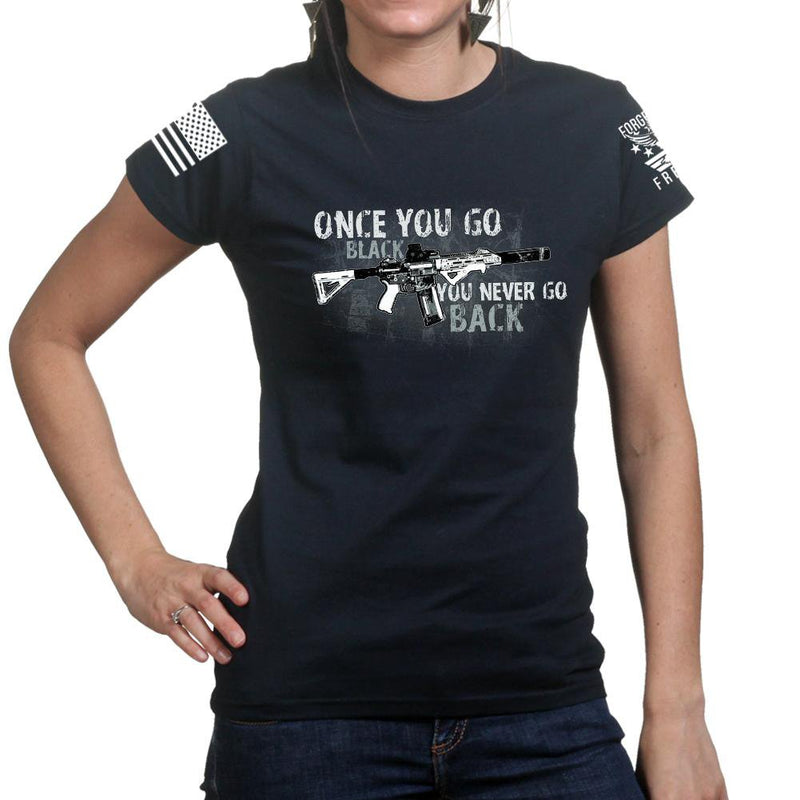Once You Go Black Ladies T-shirt