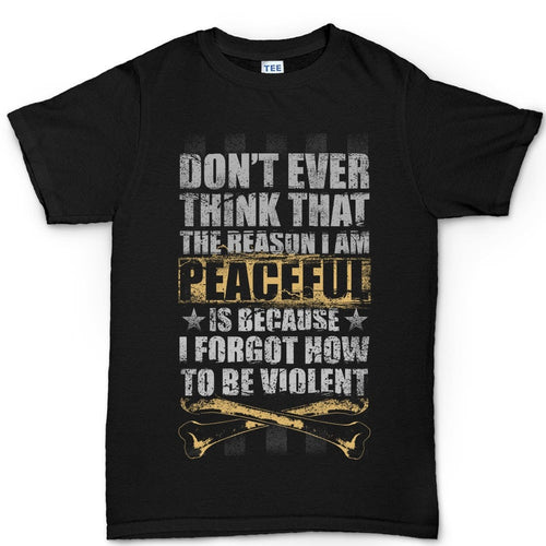 Men's Peaceful and Violent T-shirt