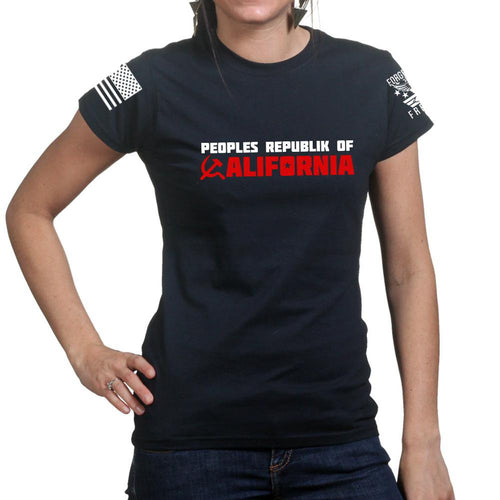 Peoples Republic of California Ladies T-shirt