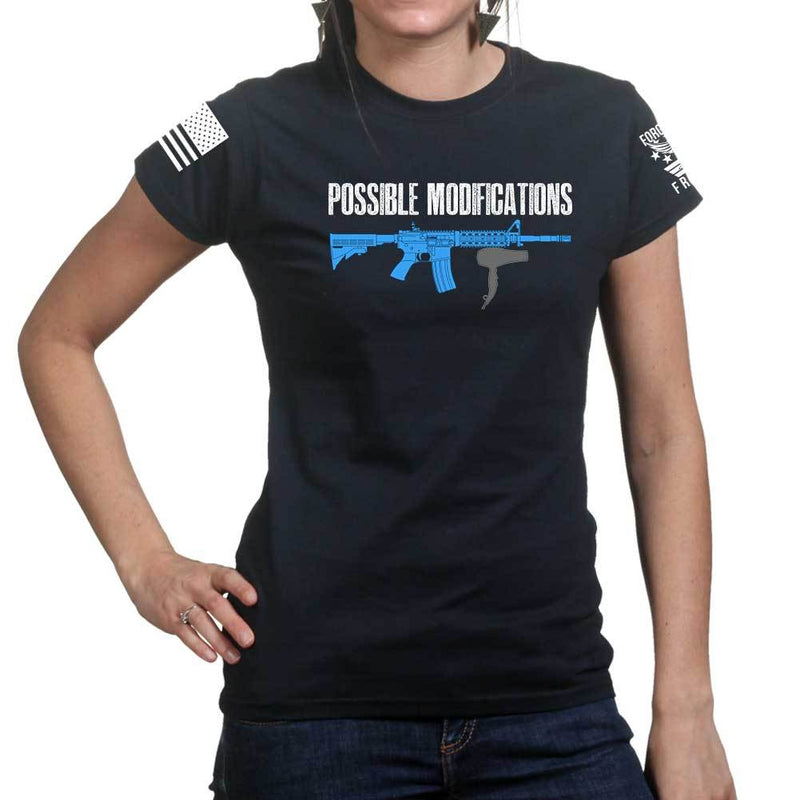 Possible Modifications AR Hair Dryer Ladies T-shirt