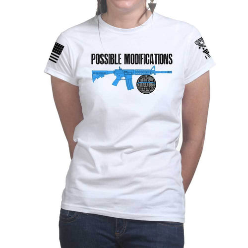 Possible Modifications Death Star Ladies T-shirt