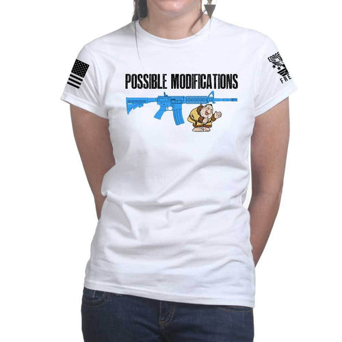 Possible Modifications Harvey Weinstein Ladies T-shirt