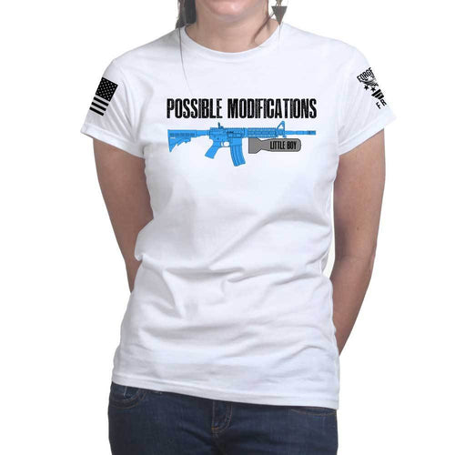 Possible Modifications Little Boy A Bomb Ladies T-shirt