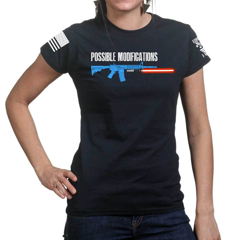 Possible Modifications Red Lightsaber Ladies T-shirt