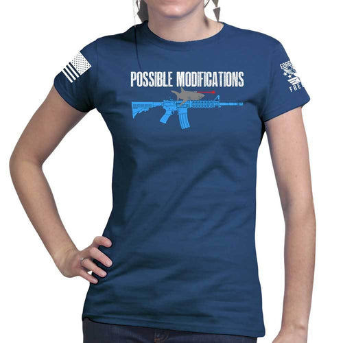 Possible Modifications AR Laser Shark Ladies T-shirt