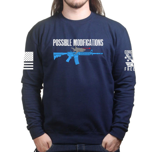 Possible Modifications AR Laser Shark Sweatshirt