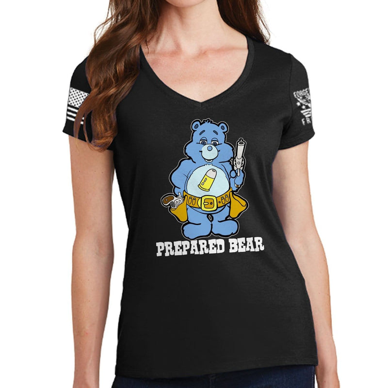 Ladies Prepared Bear V-Neck T-shirt