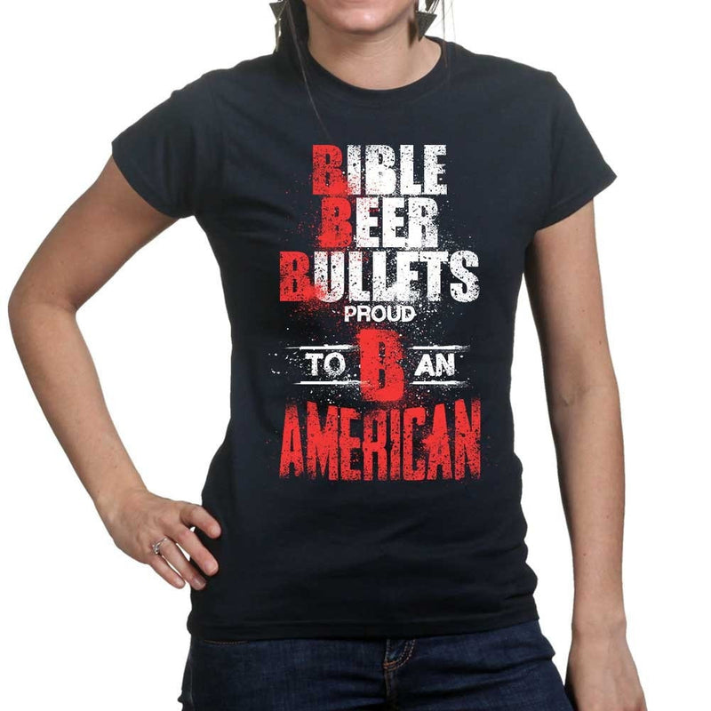 Ladies Bible, Beer & Bullets T-shirt