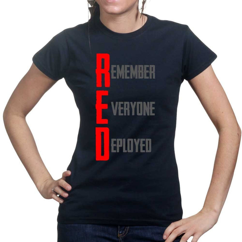 RED Remember Everyone Deployed Ladies T-shirt