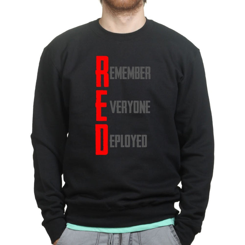 RED Remember Everyone Deployed Sweatshirt
