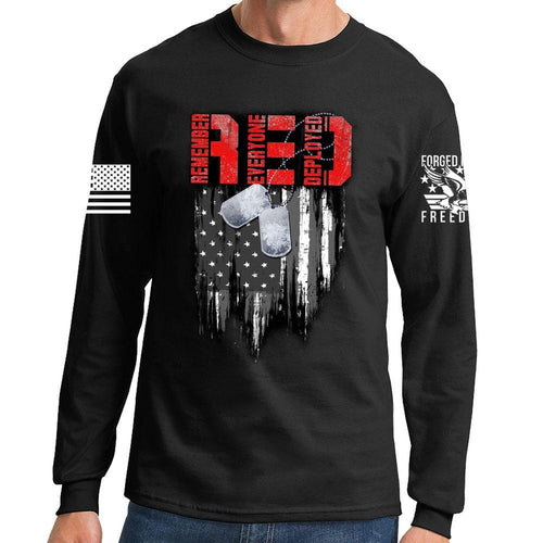 R.E.D Flag & Dog-tags Long Sleeve T-shirt