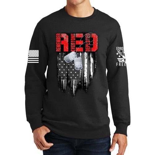 R.E.D Flag & Dog-tags Sweatshirt
