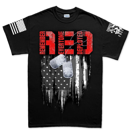 R.E.D Flag & Dog-tags Men's T-shirt